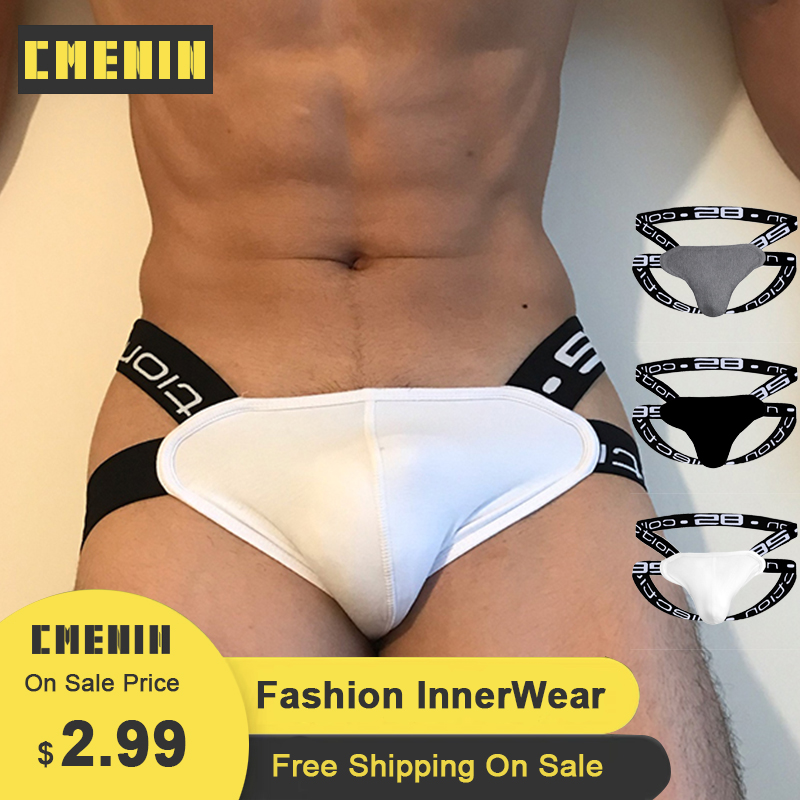 CMENIN Mens Jockstrap Underpants G String Gay Men Underwear Thongs Cueca Male Panties BS3501