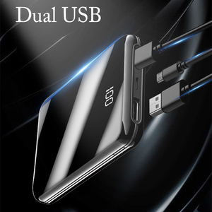 Image 2 - ni Power Bank 20000mAh Powerbank Pover Bank Charger 2 USB Ports External Battery Poverbank Portable for All smartphones  8 Xs