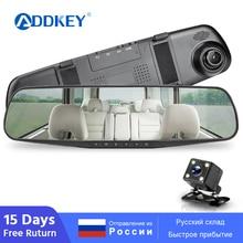 ADDKEY FHD 1080P Автомобильный видеорегистратор Камера авто 4,3 дюймов зеркало заднего вида цифровой видеорегистратор двойной объектив регистратор видеокамера видеорегистратор