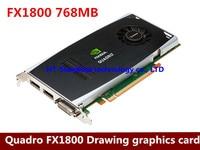 Original professional graphics card graphics workstation Quadro FX1800 768M Professional video card