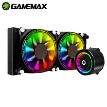GAMEMAX – RGB et refroidisseur de processeur tout en un pour Intel et AMD, refroidissement de CPU, pour LGA 2066, 2011, V3, 115X, 775 et AM4, AM3 +, AM3, FM2 +, FM2