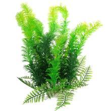 "Get more info on the fish tank aquarium plants aquarium Decoration Ceramic Base 9.8"" Height Plastic Aquatic Plant Green"