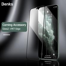 Benks קורנינג סרט VPRO מלא כיסוי 9 שעתי מזג זכוכית עבור iPhone X XS 11 פרו MAX XR מסך מגן פיצוץ הוכחה מגן