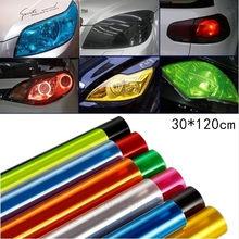 30x120/60cm luz do carro auto farol taillight matiz estilo à prova dwaterproof água película de vinil proteção matiz etiqueta do carro acessórios