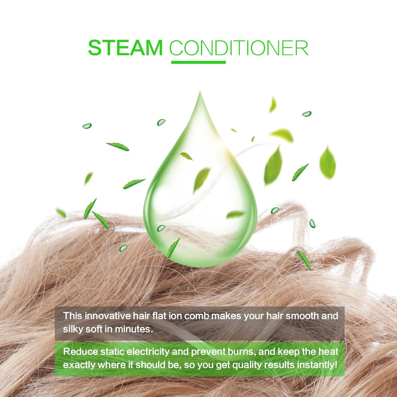 Alisador de cabelo quatro-engrenagem ajuste de temperatura
