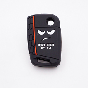 Image 3 - Xinyuexin Dont Touch My Key 3 Buttons Car Key Cover case For VW Golf 7 MK7 Seat 3 Ibiza  4 Arona Ateca Skoda Octavia