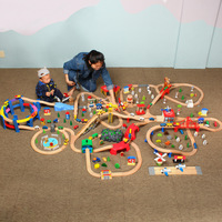 Ultra Large Scene Train Camera Track Toy Set Compatible Wood Thomas Train Camera Track