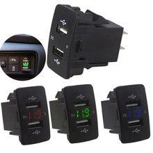 3.1A автомобильное зарядное устройство для телефона Авто вольтметр автомобильный вольтметр зарядное устройство Practica напряжение дисплей ABS Авто USB зарядное устройство для Insight