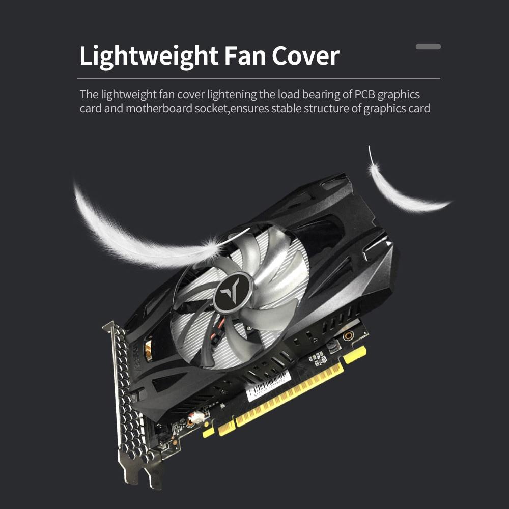 Yeston GTX1050Ti-4G D5 TD Gaming Graphics Card 1291-1392MHz/7008MHz 4G/128bit/GDDR5 Memory DVI-D/HD MI/DP Video Card For Desktop 3