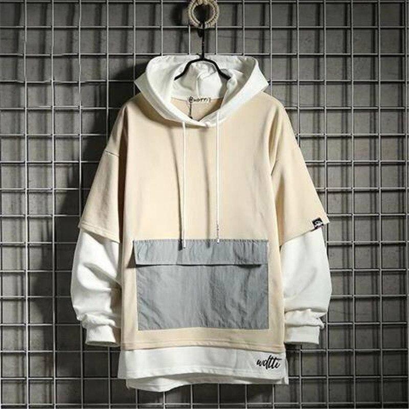 Korean Oversized Hoodies Men Women Solid Hoodies Streetwear Hooded Sweatshirts 2019 Hip Hop Man Casual Autumn Hooded Hoody Males