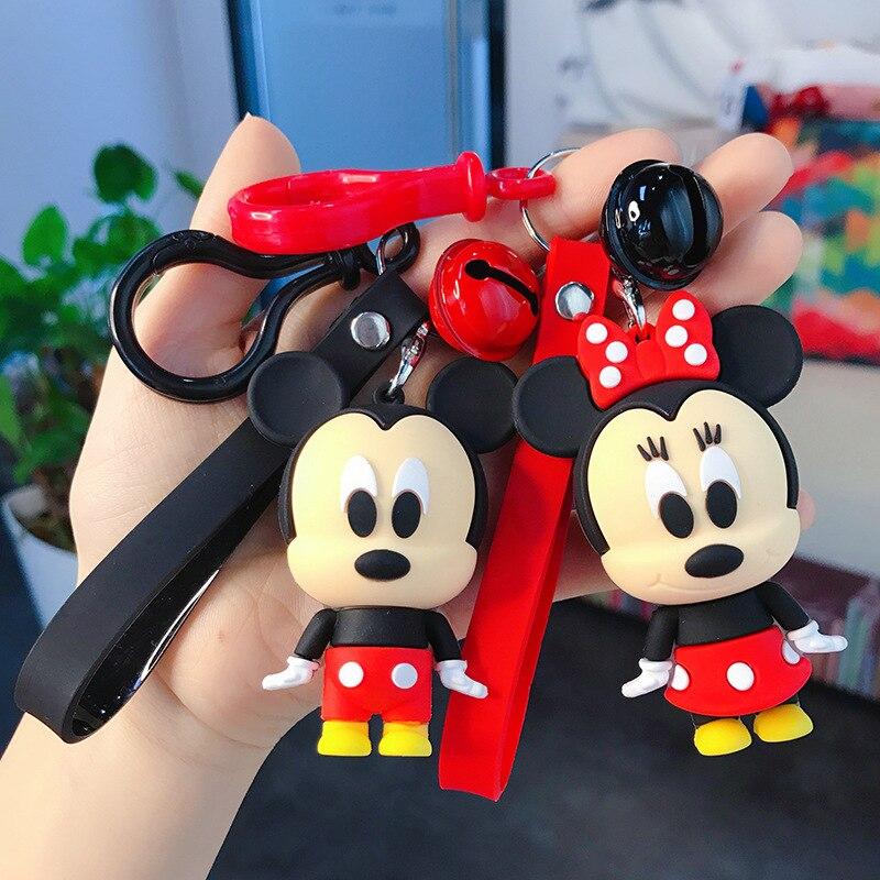 Cute Car Key Chain Bag Pendant Keyring Girl Woman Disney 2020 New Pop Trend Cartoon Drop Glue Piglet Pooh Bear Keychain