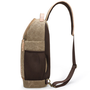 Image 3 - Canvas Leather Sling Messenger Camera Bag Professional DSLR Storage Bag Durable Waterproof and Tearproof Carrying Backpack Case