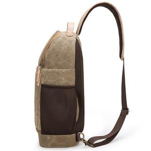 Image 3 - Płótno temblak skórzany Messenger torba na aparat profesjonalna torba do przechowywania DSLR wytrzymały wodoodporny i odporny na rozdarcia plecak