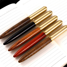16Pcs High Quality Wood Business 0.5mm Fountain Pen Ink Pen Nib Stationery Writing Gift Signing Pen Office School Supplies high quality classic deign hero 200 gold nib fountain pen business executive good writing pen