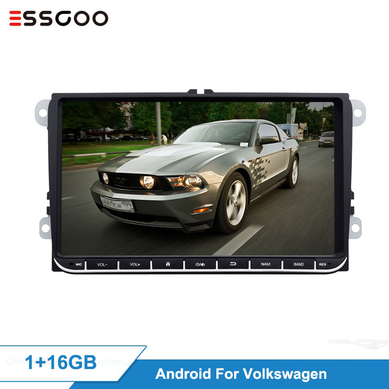 Essgoo Android 9'' 2+32GB 1+16GB Car Multimedia Player GPS Navigation Autoradio 2din Video MP5 Car Radio For Volkswagen For VW