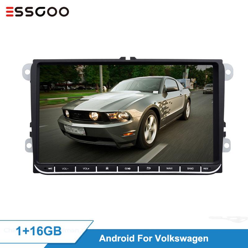 Essgoo Android 9'' 2+32GB 1+16GB Car Multimedia Player GPS Navigation Autoradio 2din Video MP5 Car Radio For Volkswagen For VW
