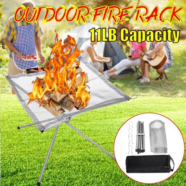 Portable Mesh Fire Pit  2