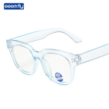 Glasses Frame Spectacles Transparent Seemfly Anti-Blue Flat-Lens Square Color Girls New-Style