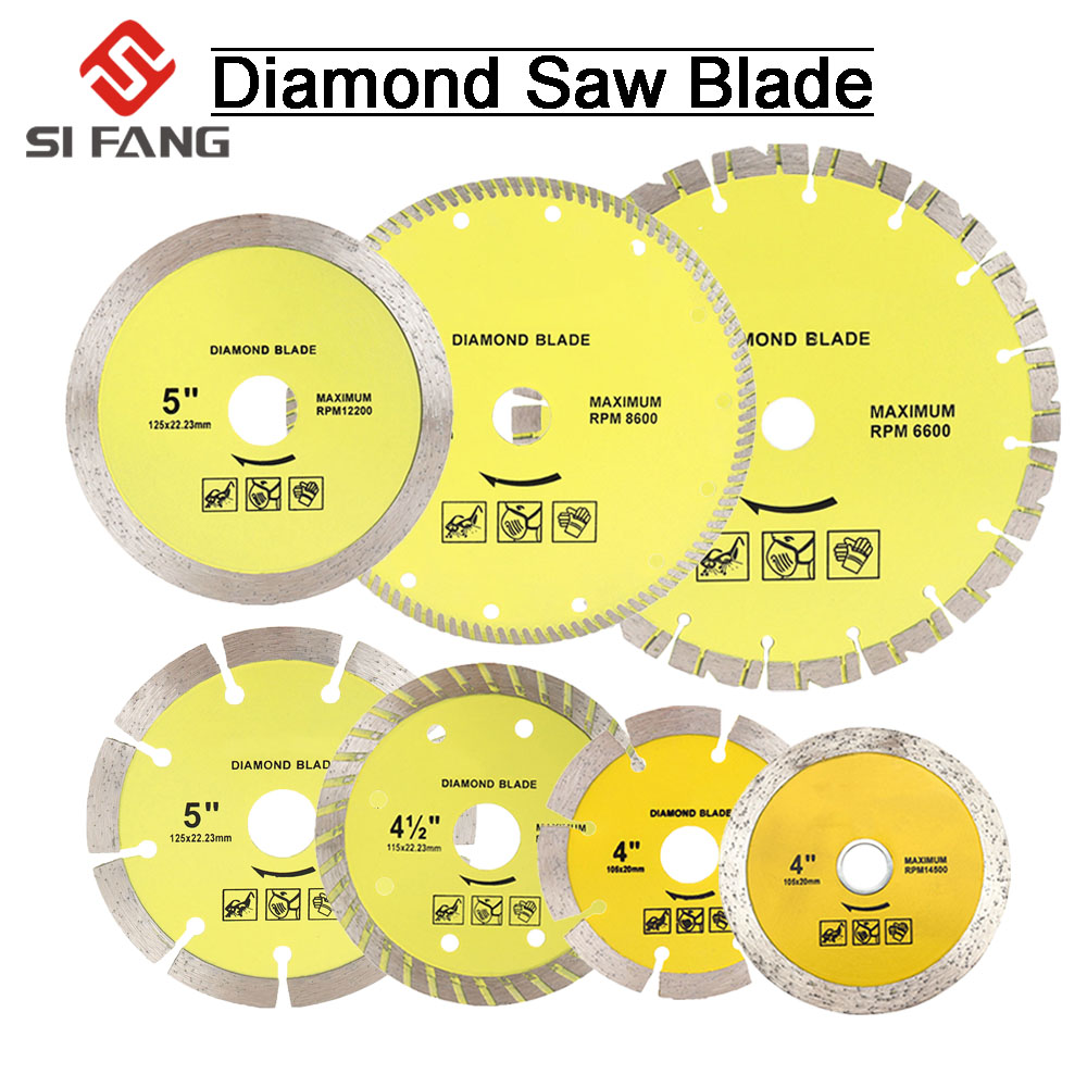 105mm/115mm/125mm/180mm/230mm Diamond Segment Saw Blade Cutting Disc Wet/Dry Circular Cutting Wheel For Marble Granite Concrete