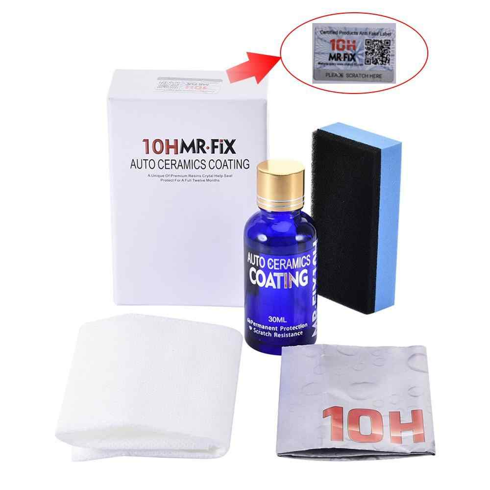 10H Auto Vloeibare Keramische Jas Hydrofobe Glas Coating Motocycle Paint Care Anti-Scratch Auto Detaillering Glasscoat Auto Polish