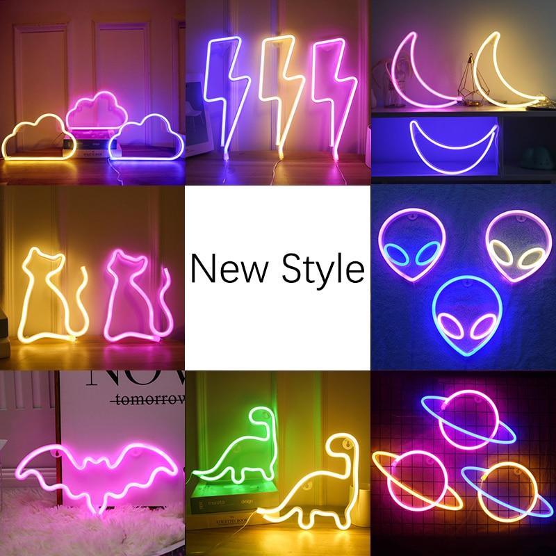 Неоновый светодиодный светильник, s-вывеска, светильник с планетами, ning Moon, неоновый светильник, любовь, облако, неоновые вывески для комнаты...