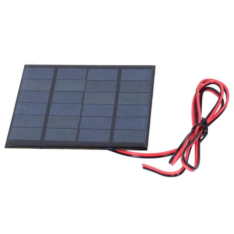 2 pces mini painel de epoxi do modulo de energia solar com cabo de 100cm acessorios