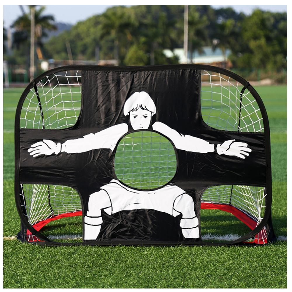 WISHOME 2in1 Kids Folding Soccer Football Goal Net for Backyard Indoor Toy Training Goal Net Tent Kids Indoor Sports Play Toy