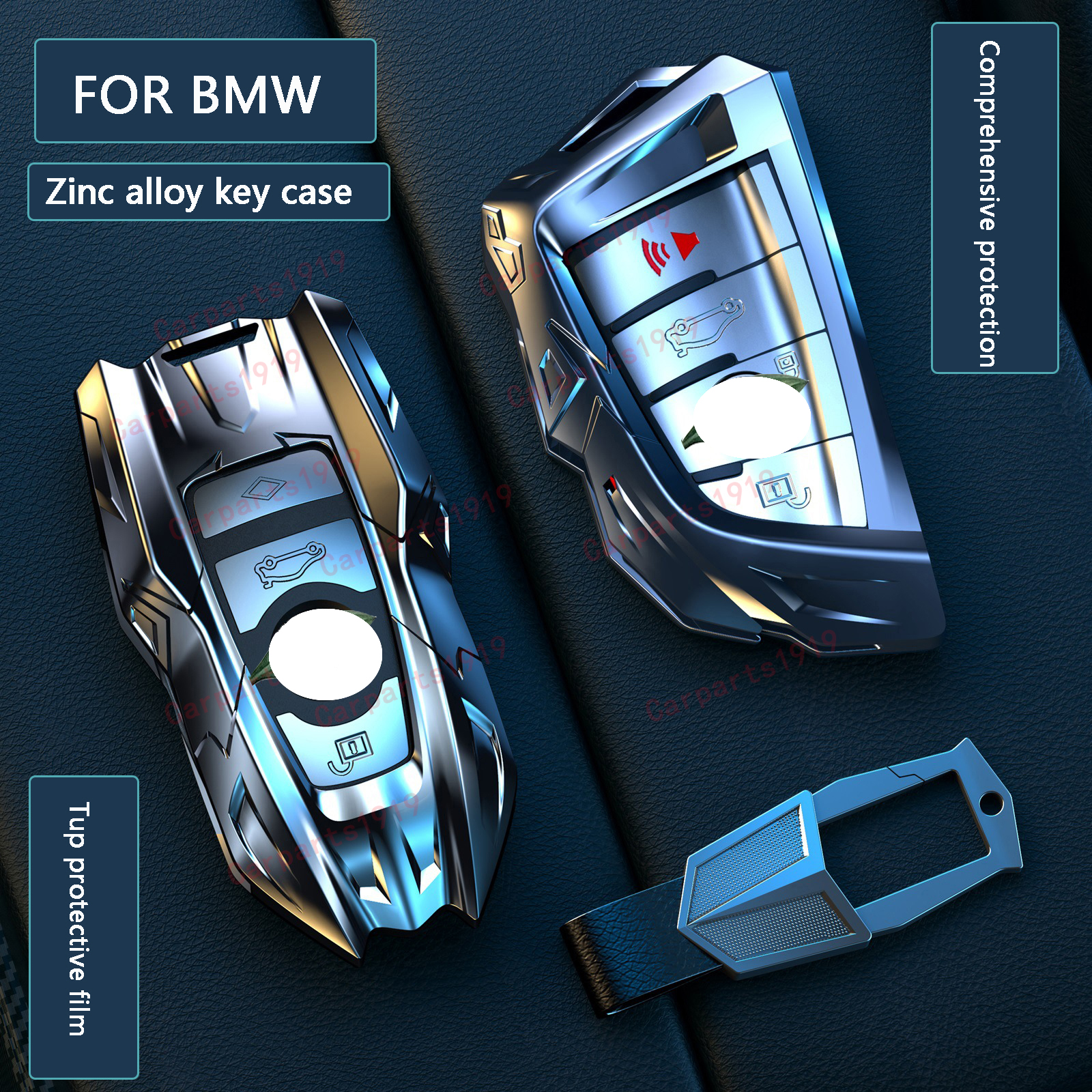 Zinc alloy Car Remote Key Case Cove  For BMW 520 525 f11 f30 f31 f10 F18 f48 118i 320i 1 2 3 4 5  7 Series  X3 X4 X5 X6 M3 M4 M5