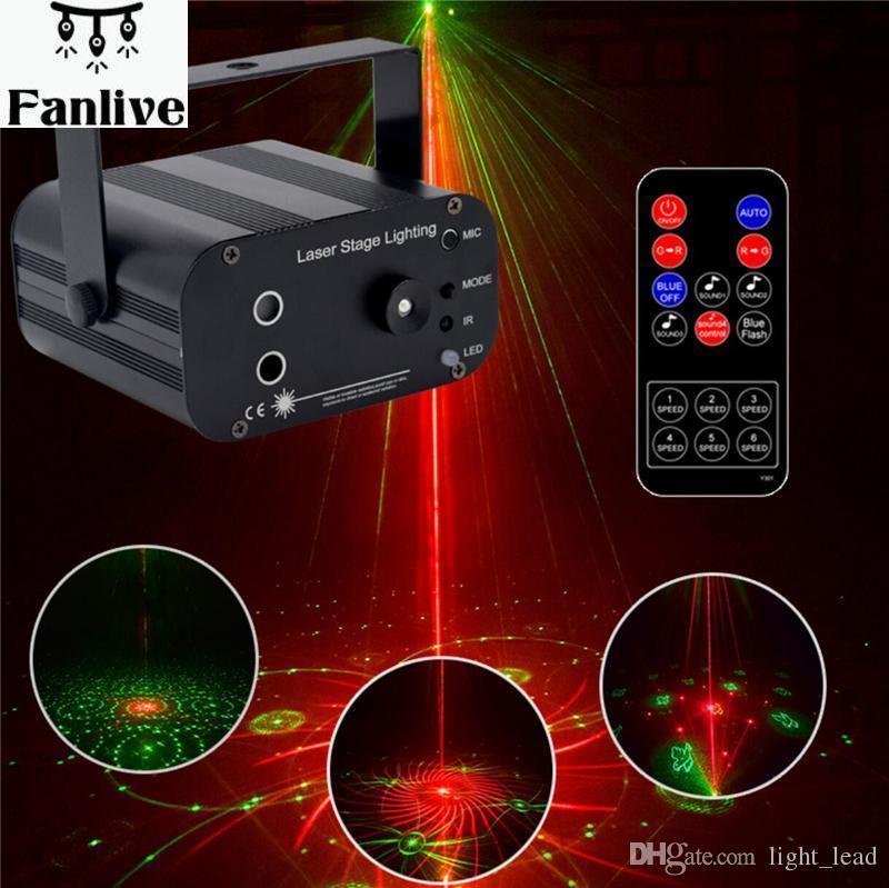 4 stücke 48 Muster Laser Projektor Fernbedienung/Sound Controll LED Disco Licht RGB DJ Party Bühne Licht Weihnachten Lampe dekoration