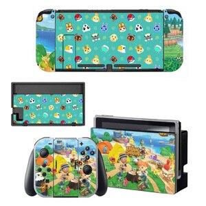 Image 3 - Hayvan geçişi ekran koruyucu Sticker cilt Nintendo anahtarı NS konsolu için şarj ünitesi standı tutucu Joycon kumanda muhafazası