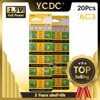 YCDC Hot selling 20pcs AG3 384 392 SR41W SR41 L736 Alkaline Coin Cell Button Batteries For Watch EE6204