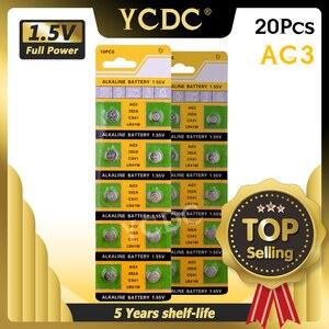 Image 1 - YCDC di vendita Caldo 20pcs AG3 384 392 SR41W SR41 L736 Alcalina Della Moneta Delle Cellule del Tasto Batterie Per La Vigilanza EE6204