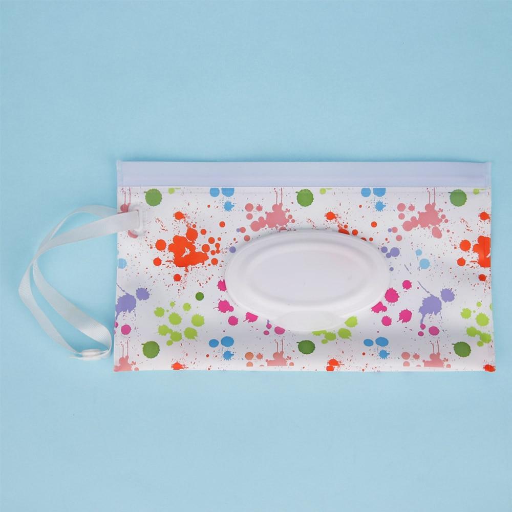 Quaslover Экологичная коробка для детских салфеток, коробка для влажных салфеток, чистящие салфетки, сумка для переноски, чехол-раскладушка с ремнем - Цвет: C