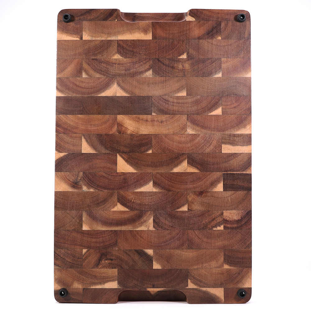 grande planche a decouper en bois d acacia epais polyvalente avec rainure de jus planche a decouper avec grain d extremite pour la cuisine 18x12x4 aliexpress