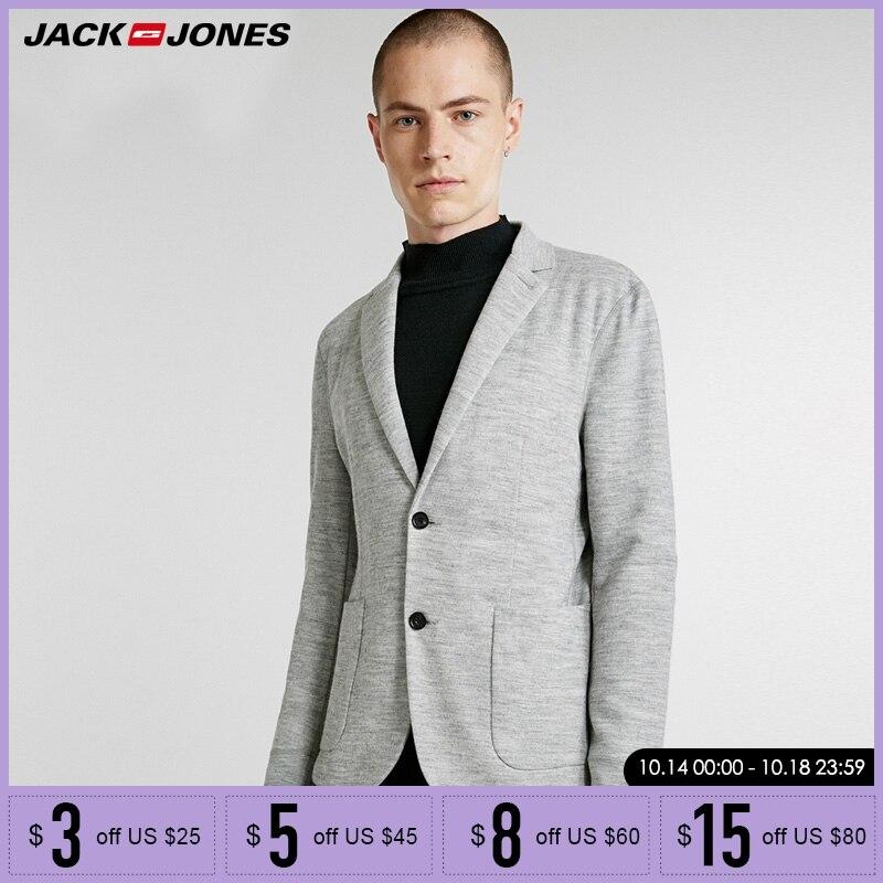 Jack Jones New Men Blazer Contains Wool Suit Coat  | 218308515