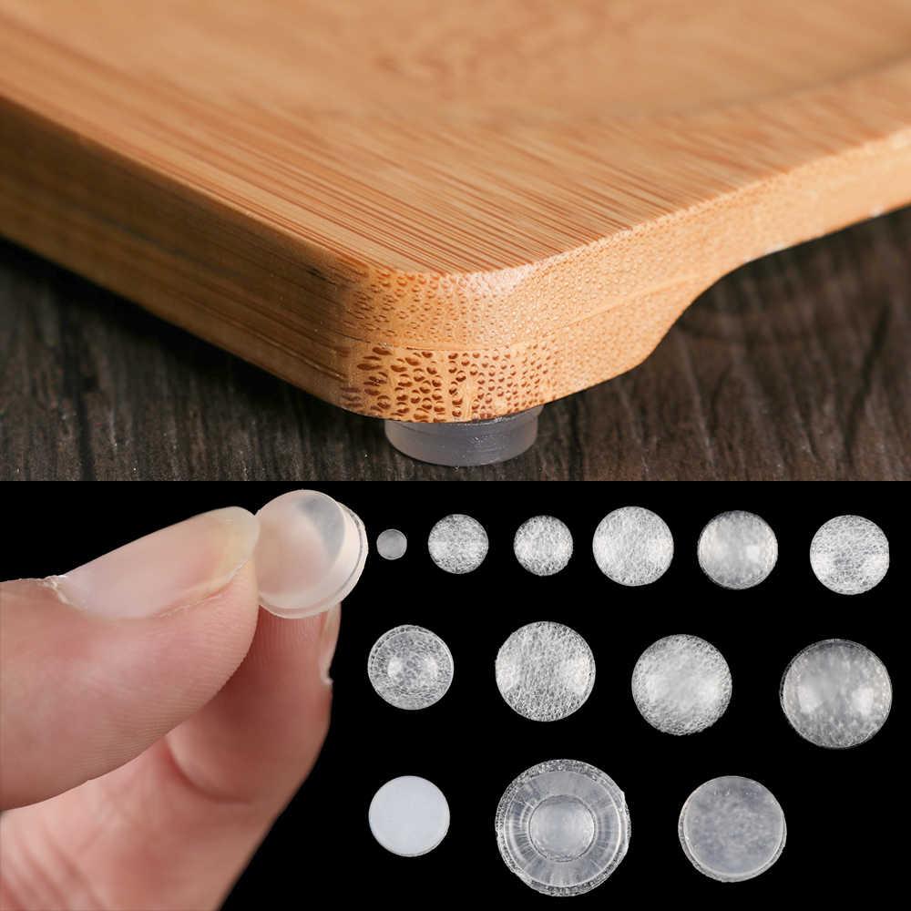 50/64/100 Uds. Amortiguador autoadhesivo tapón para puerta de muebles cojín de colisión duradero para prevenir golpes ruidosos almohadillas de silicona