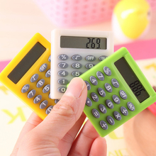 Mini Calculator Handheld Pocket Pocket Cartoon Type Coin Batteries Calculator carry extras