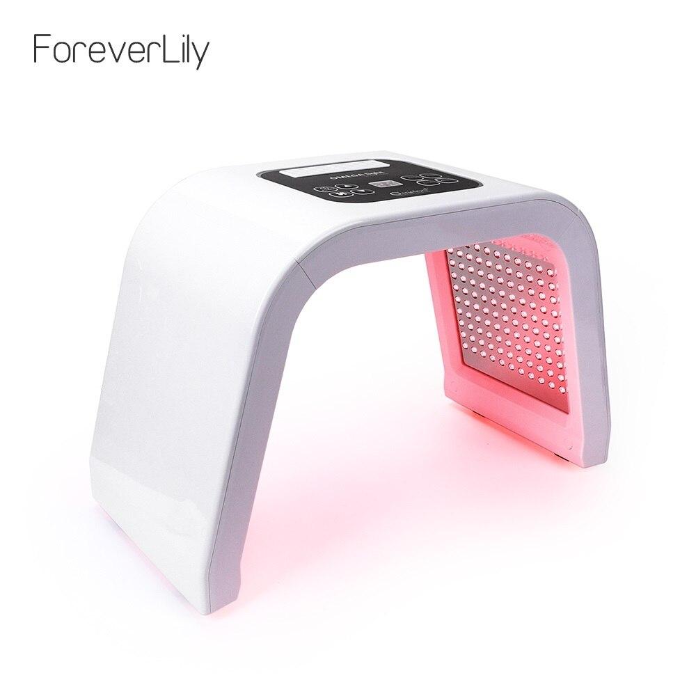 7 Cores PDF profissional Dispositivo de Rejuvenescimento Da Pele Terapia de Luz Levou Máscara Facial Spa Removedor de Acne Anti-Rugas BeautyTreatment