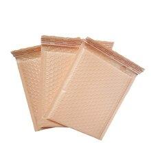 Enveloppes rembourrées auto-scellantes, sacs à bulles en Poly Orange rose, sac cadeau pour cosmétiques, sac de courrier en plastique auto-scellant 50 pièces