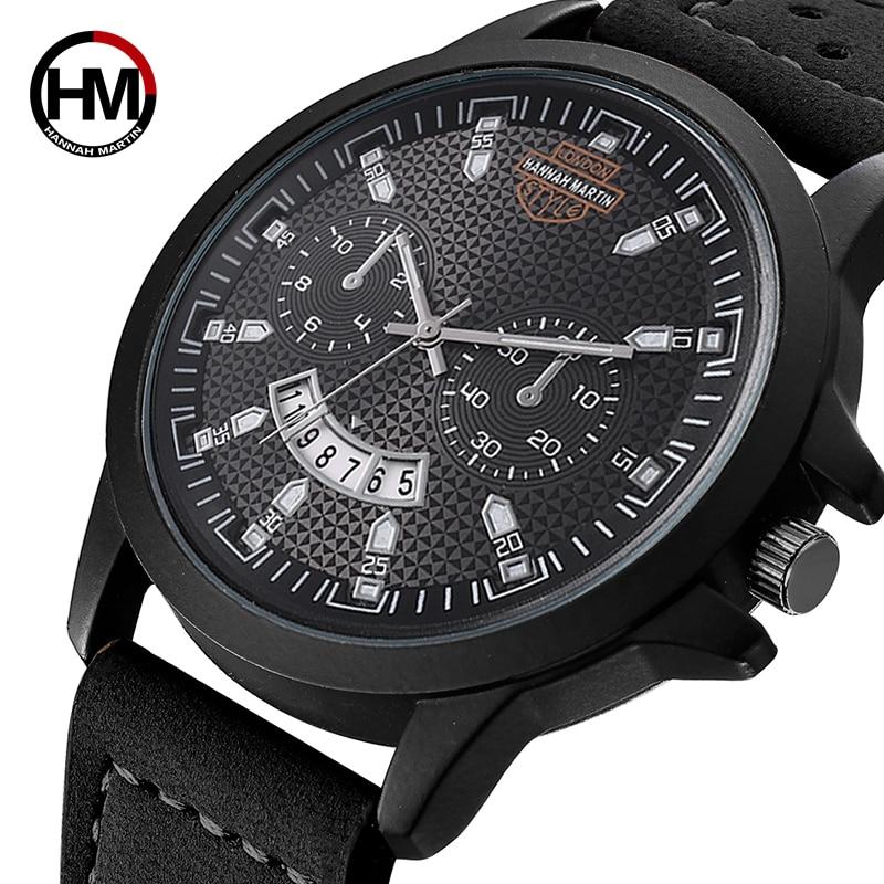 Hannah Martin Top Brand Luxury Men's Watches Military Sport Watch Men Wristwatch Fashion Watches Male Clock Relojes Hombre 2019
