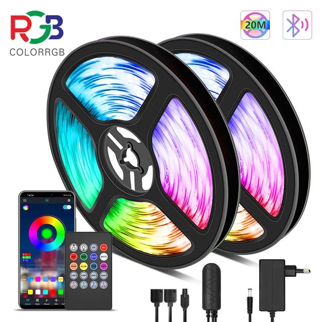 10M 20M taśmy LED światła RGB 5050 światła muzyka synchronizacja zmiana koloru wrażliwy wbudowany mikrofon, App kontrolowane światła LED światła linowe