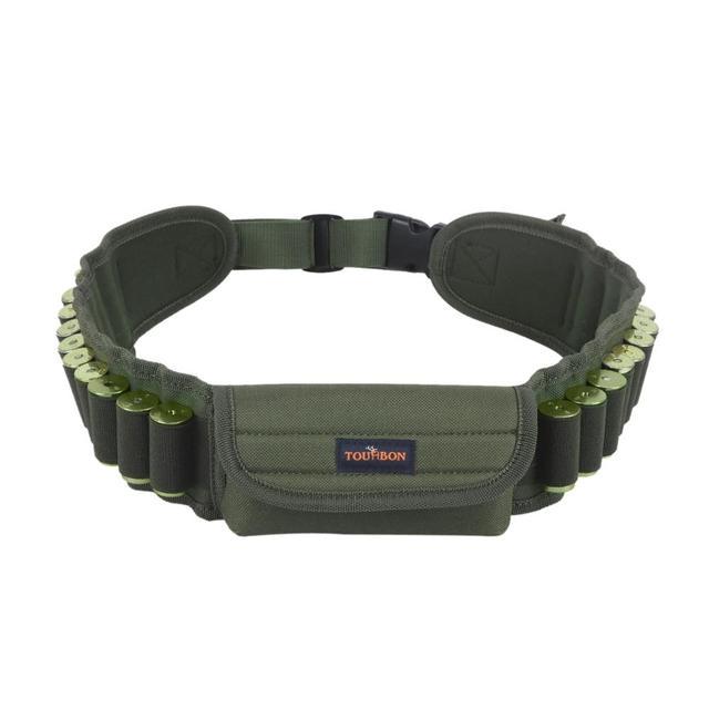 Tourbon Accessori Per Armi Da Caccia Tactical Shotgun 12/16/20 calibro Ammo Conchiglie Bandoliera Cartuccia Della Cinghia del Supporto di 20 Giri di Nylon