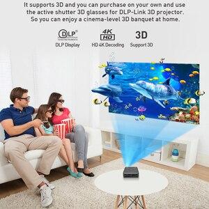 Image 3 - Smartldea P11 cep 4K 3D projektör android9.0 2.4G 5G wifi Bluetooth5.0 ev projektör 4G RAM 32G ROM seçeneği video oyunu beamer