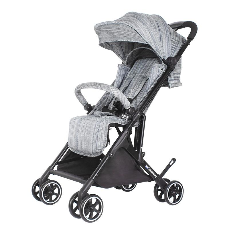 Babyyoya stroller Mini  Lightweight Portable Folding Baby carriage 2 in 1 trolley Pocket One key operation