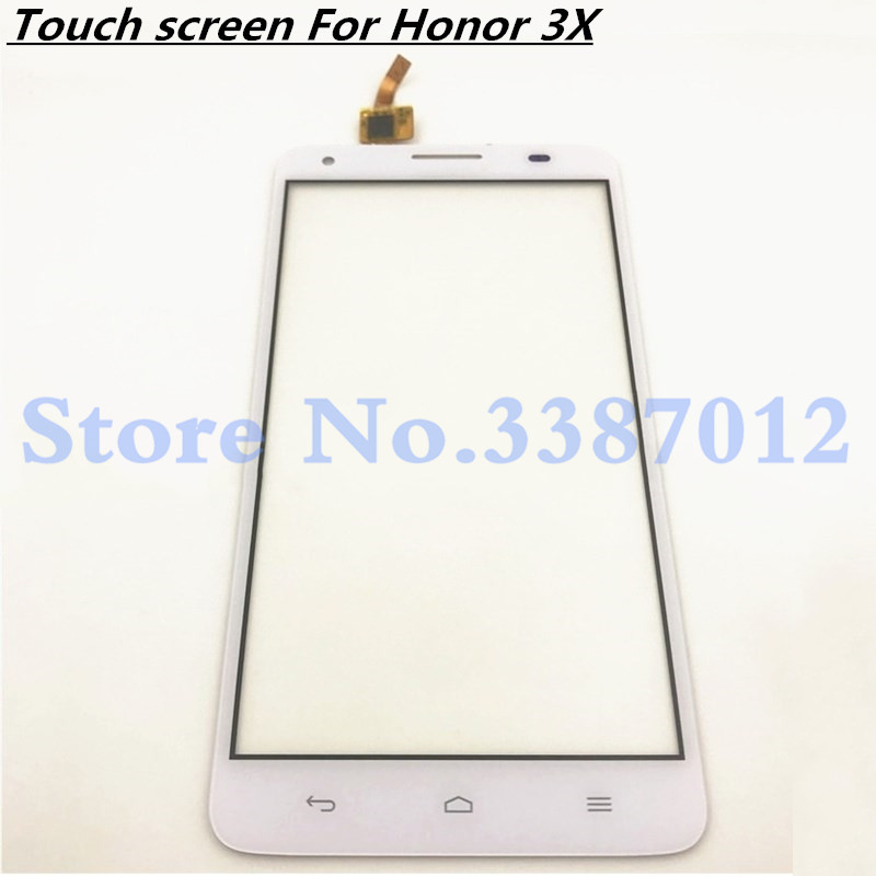 5.5'' Replacement High Quality For <font><b>Huawei</b></font> <font><b>G750</b></font> <font><b>G750</b></font>-T00 <font><b>G750</b></font>-<font><b>U10</b></font> Honor 3X Touch Screen Digitizer Sensor Outer Glass Lens Panel image