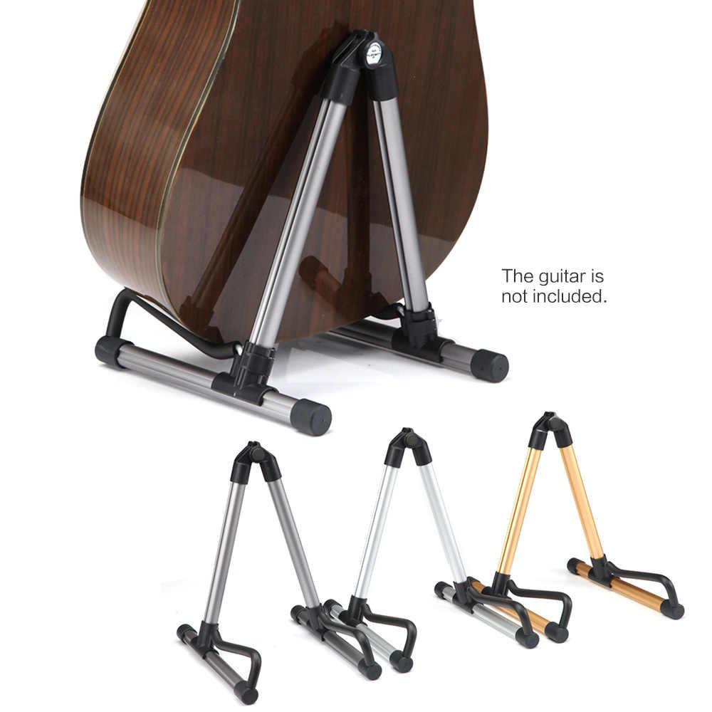 אוניברסלי מתקפל מתקפל קל משקל נייד גיטרה בס מיתר מכשיר Stand מחזיק עבור גיטריסט מקצועי