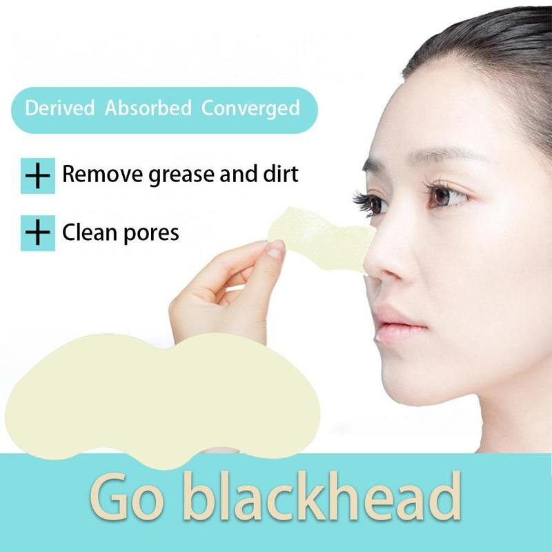10 PCS Bamboo Charcoal Blackhead Remover Deep Nose Pore Cleasing Strip Nose Sticker Pig Nose Mask