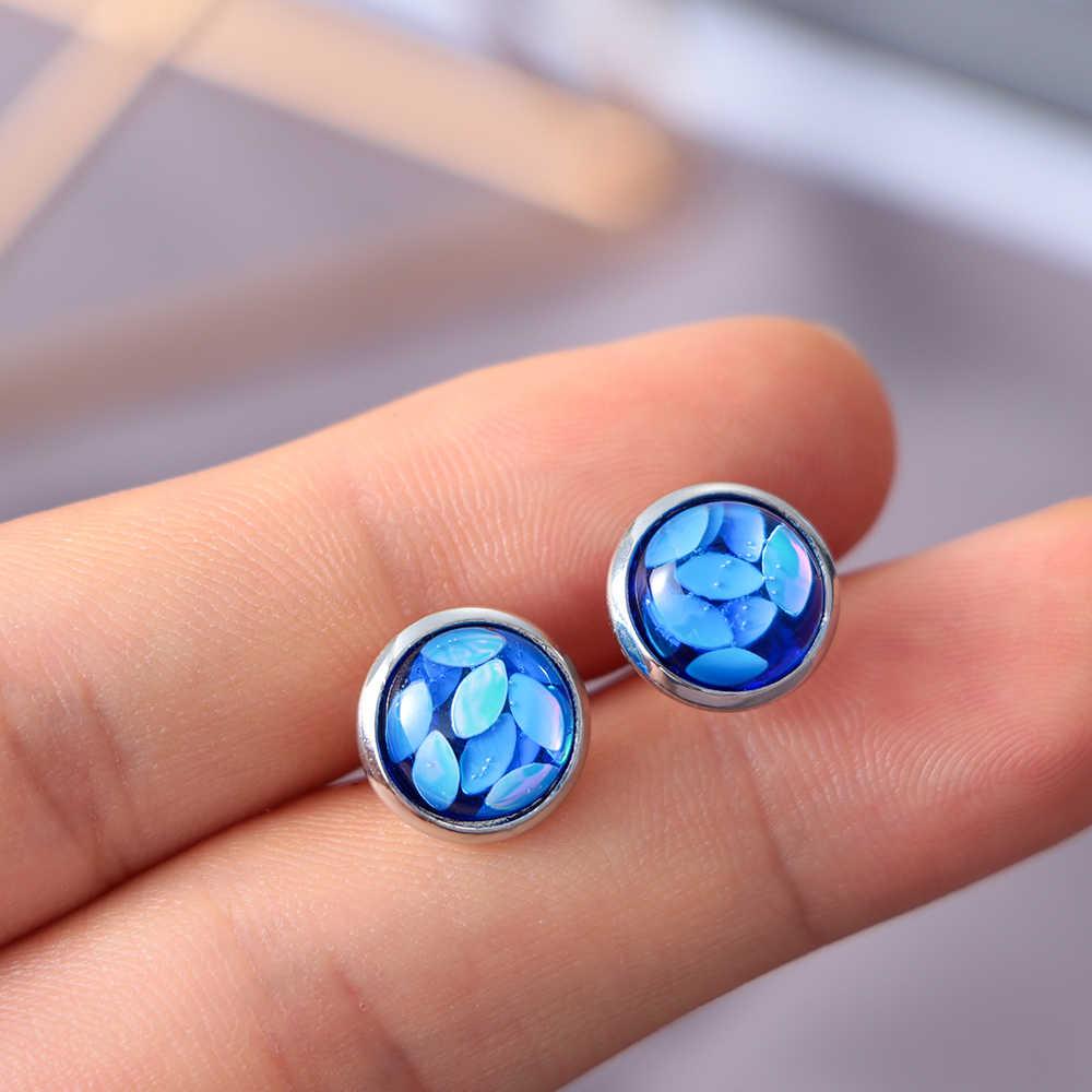 6 pair 2019 New Fashion 12mm Druzy Opal oko konia stadniny kolczyki mitation klejnot biżuteria kolczyki dla kobiet sprzedaż hurtowa Brincos