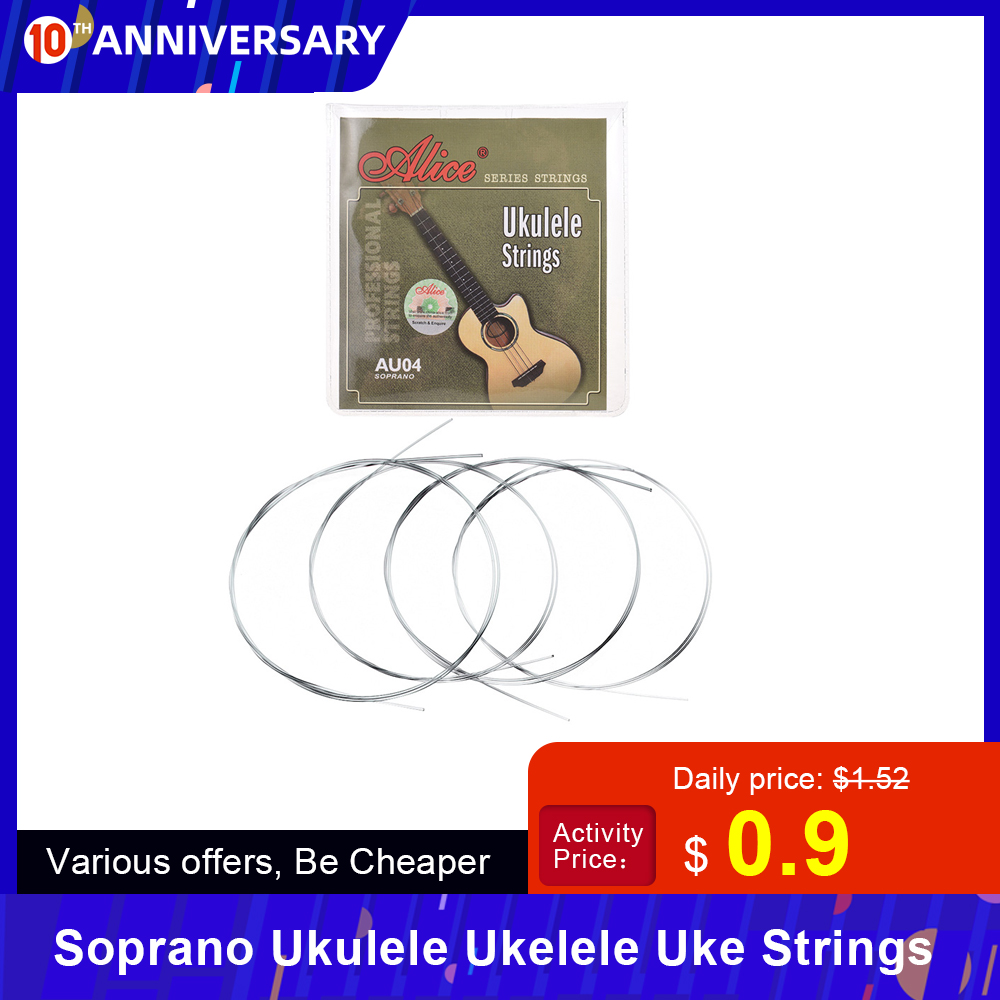 4 Pcs/set Soprano Ukulele Ukelele Uke Strings Set Nylon Ukulele Strings Replacement Part Stringed Instrument Accessories