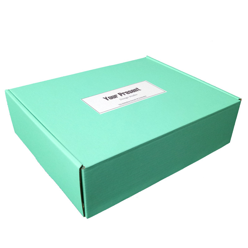 10Pcs Bright Green Paper Box 3 Layers Corrugated Boxes Jewelry Packaging Gift Box Logistics Express Box Mailers 5 Sizes